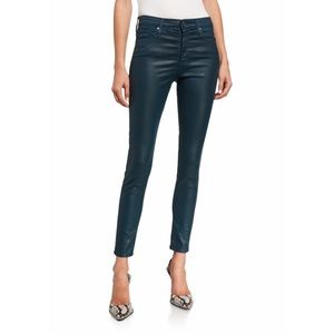 AG | Farrah Leatherette Skinny Ankle Jeans